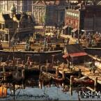 Screenshot AoE III: So soll eine Heimatstadt aussehen