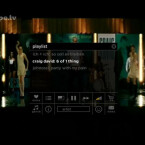 Musikvideos ohne störendes Drumherum. Auch die Navigation blendet sich nach kurzer Zeit wieder aus.