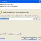 Hier wählen Sie aus, in welchen Ordner auf Ihrer Festplatte Kazaa Lite installiert werden soll.