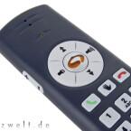 Über die Funktions-Tasten lässt sich sowohl die Lautstärke des USB-Telefons steuern als auch die des PCs. Auf einige Funktionen des Carposoftphones kann das Gerät auch zugreifen.