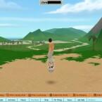 Unterwegs mit dem Hoverboard. Fliegen ist nicht möglich, dafür ist das Hoverboard als schnelles Fortbewegungsmittel schon von Beginn an im Inventar.