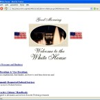 Pures HTML für den Präsidenten