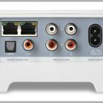 Die Rückseite des ZP80 hält neben zwei Ethernet-Schnittstellen noch analoge und digitale Audio-Anschlüsse bereit.