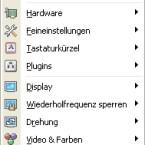 Über ein Symbol im Windows-Systemtray stellen die so genannten Tray Tools, ein Bestandteil der Omega-Treiber, eine Menge zusätzlicher Funktionen bereit.