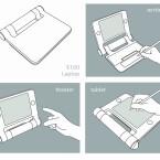 Nutzung als Tablet-, Notebook und sogar Handy.