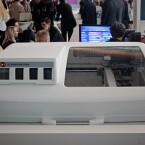 Pausenlos im Einsatz: 3D-Drucker auf dem Telekom-Stand