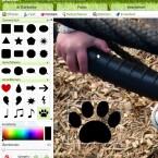 Fotos können mit Mustern und Symbolen versehen werden.
