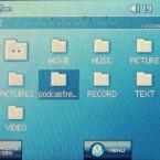 Am unteren Bildschirmrand werden virtuelle Schaltflächen eingeblendet.