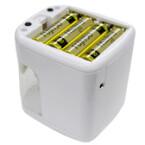 ...und braucht nur vier Batterien