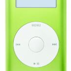 Der kleine iPod kommt derzeit mit vier GByte Speicher.