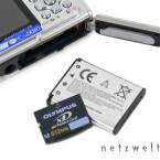 XD-Picture-Card und Lithium-Ionen-Akku
