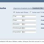 Die Navigation bei Medionbox ist noch sehr unübersichtlich: Derzeit lässt sich das Archiv nur über die Suchfunktion durchstöbern.