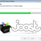 Joost ist in weniger als einer Minute auf der Festplatte.