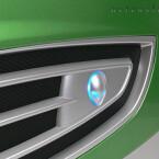 Entfernt an einen schnellen Sportwagen erinnern die seitlich platzierten Nüstern und die Basis in mattem Silber,