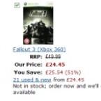 Hier stehen bei anschließender Eingabe des Aktions-Codes XBXGME10 Spiele wir Halo 3, Fallout 3 oder Mirror's Edge für etwa zwölf Euro zur Auswahl.