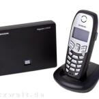 """Die \""""Blackbox\"""" des C450 IP verfügt über einen analogen Telefonanschluss sowie einen LAN-Port"""
