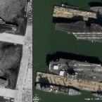 Norfolk Marinebasis (NWW links, Google rechts)
