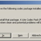 Als einziges Programm warnt K-Lite, wenn andere Packs installiert sind