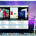 So sieht die aktuelle Version von Apples Betriebssystem aus. Ein Stack, beziehungsweise Stapel, ist gerade aufgefächert.