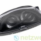 Die Transportbox aus Plastik sichert den Kopfhörer gegen Umwelteinflüsse und passt notfalls auch in eine Jeanstasche.