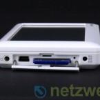 Der interne und bis zu 32 Gigabyte große Speicher lässt sich mittels SD-Karten erweitern.