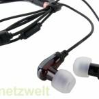 Auch diese Kopfhörer sind kompatibel zum iPhone / iPod Touch.
