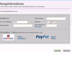 An der Kasse zahlt der Kunde mit Kreditkarte, PayPal oder ClickandBuy.