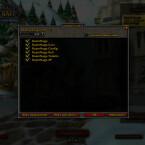 Das Addon-Menü von World of Warcraft.