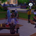 Die Sims 3: Grillen und Feiern mit Freunden.