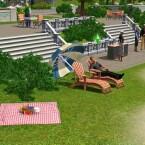 Auch Sims relaxen gern in der Sonne.