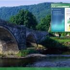 Brücken-Panorama in Wales, Großbritannien.