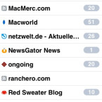 Alle gelesenen RSS-Nachrichten deaktiviert NetNewsWire über den NewsGator-Dienst auch auf anderen Geräten und Programmen.