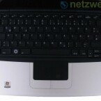 Die Tastatur rückt bis an den oberen Rand.