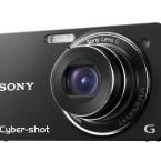 Die Sony Cybershot DSC-WX1 wird ebenfalls in unterschiedlichen Farben angeboten. Im Bild die schwarze Version.