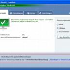 Am unteren Bildrand zeigt das Programm den Zeitpunkt des nächsten Suchlaufs an. Nach einem Klick auf den blauen Satz daneben, öffnen sich die Einstellungen.