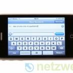 Eine Errungenschaft des neuen Betriebssystems iPhone OS 3.0 ist die Queransicht der virtuellen Tastatur.
