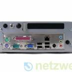 DVI-, HDMI- und eSata-Anschluss besitzt der Rechner nicht.
