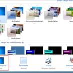 """Ein Klick auf """"Hintergrundbild"""" führt den Anwender zur Übersicht der Desktopbilder."""