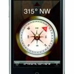 Ein digitaler Kompass hilft bei der Orientierung und richtet zum Beispiel Landkarten und Stadtpläne korrekt aus.