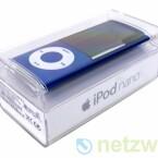 """Wie alle iPods kommt auch der neue Nano in einem """"gläsernen Sarg"""" aus Kunststoff."""