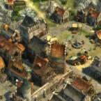Der Grafikstil des mittelalterlichen Abendlandes hebt sich deutlich von der filigranen Kunstfertigkeit der Bauten des Morgenlandes ab.
