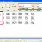 Ist die eingelegte CD der Datenbank bekannt, werden die Daten nun angezeigt. Falls nicht, können Daten mit F2 manuell geändert werden.
