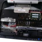 Die Festplatte kann gegen ein größeres Modell ausgewechselt werden.
