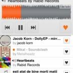 Die iPhone-App des Musik-Hosting-Dienstes SoundCloud bietet den Austausch über die eigene Musik mit anderen Musikern. Das Hochladen der eigenen Musik direkt vom iPhone ist allerdings noch nicht möglich.
