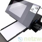 Abnehmbare Papierkassette und das Farbband.
