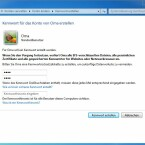 Nach der zweifachen Eingabe speichert Windows das Passwort.