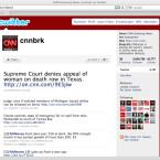 CNN teilt dagegen die Meldungen nach Ressort auf mehrere Konten auf.