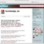 Auf dem Angebot der Bundesliga können Leser den Endstand nachlesen.