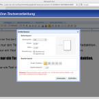 Über das Seitenlayout lassen sich Format und Spalten individuell anpassen.
