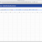 Die Tabellenkalkulation verfügt über drei Arbeitsblätter und Autovervollständigung.